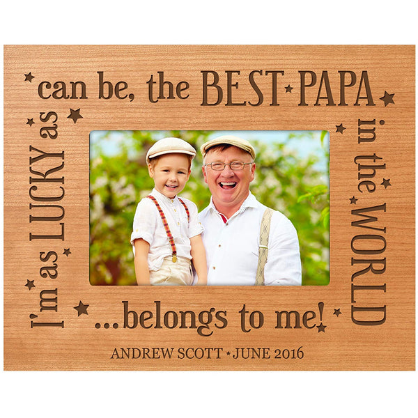 Personalized Gifts for dad Engraved birthday gifts for dad Custom picture frame Best Papa in the World belongs to me