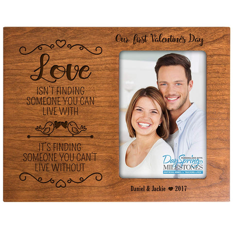 Personalized Valentine's Day Frames - Our First Valentine's Day