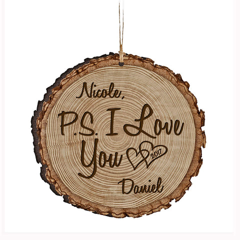 Personalized Valentine's Day Ornaments P.S. I Love You