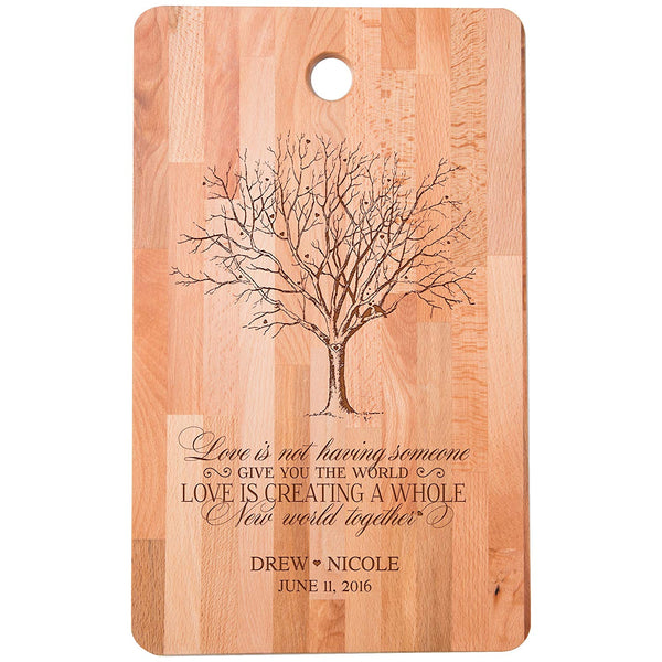 Bamboo Cutting Board Personalized and Engraved
