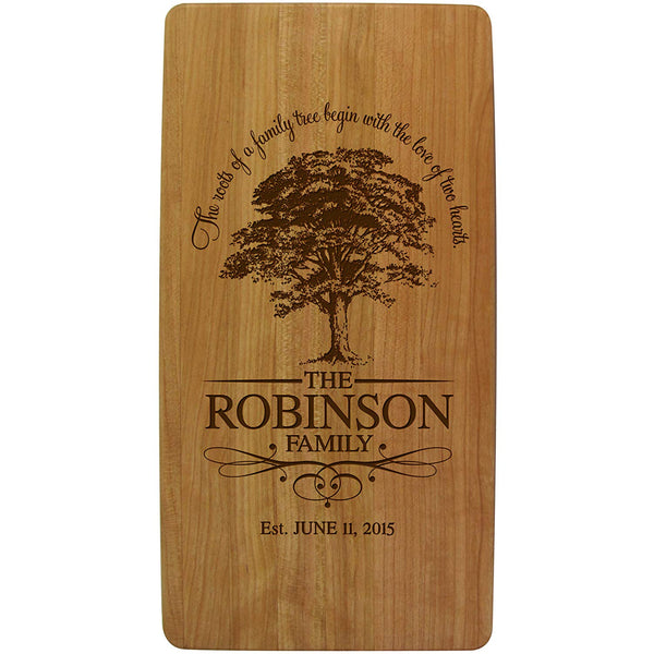 Cherry Cutting Board - Family Established Year - Family Tree Ours Is My Favorite