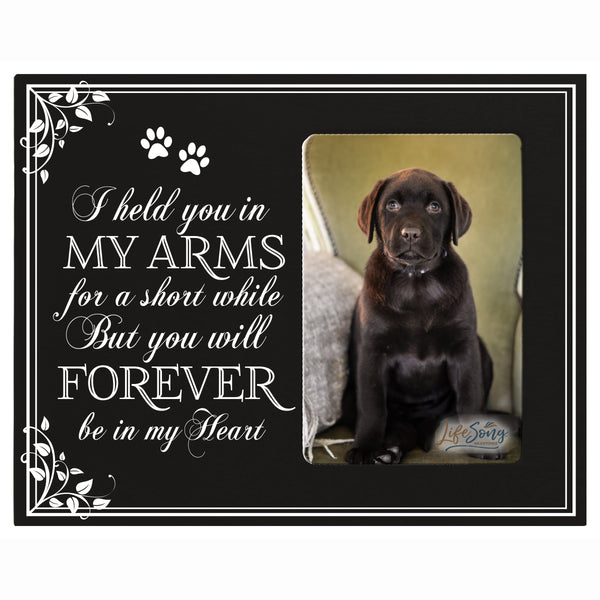 Sympathy Memorial Picture Frame Gift Ideas loss of pet inspirational grief comfort decor I Held You