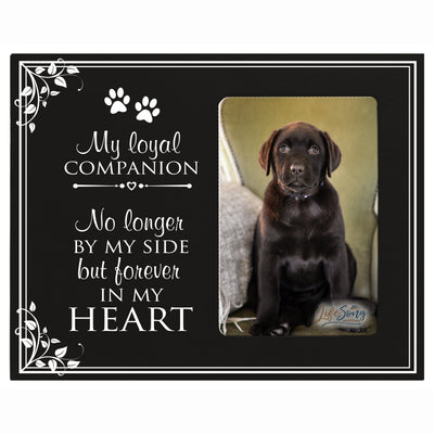 Sympathy Memorial Picture Frame Gift Ideas loss of pet inspirational grief comfort decor My Loyal