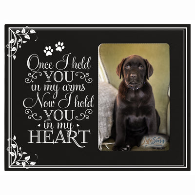 in loving memory pet bereavement gift sympathy memorial keepsake grieving photo frame Once I Held You