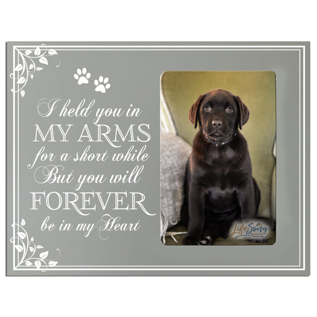 Words of Condolences Message Quotes for Loss of a Pet death funeral wall hanging I Held You