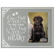Sympathy Memorial Picture Frame Gift Ideas loss of pet inspirational grief comfort decor Once I Held You