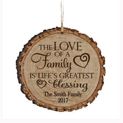 Personalized Valentine's Day Ornaments The Love Of A Family
