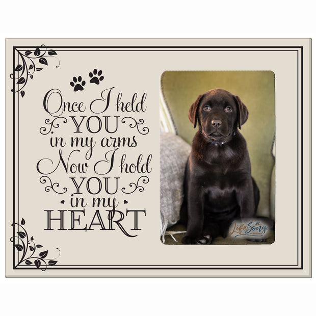 Words of Condolences Message Quotes for Loss of a Pet death funeral wall hanging Once I Held You