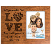 all you need is love gift family frame picture cherry