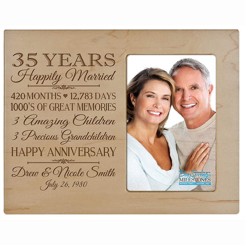 Personalized 35th Year Anniversary Photo Frame - Counting Our Blessings