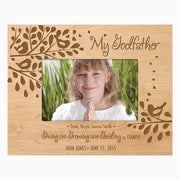 Personalized 4x6 Godparent Photo Frame Gift - Giving Growing Guiding