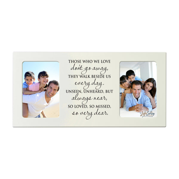 "LifeSong Milestones Words of Condolences Message Quotes for Loss of Loved One- Bereavement Sympathy Memorial Picture Frame Gift Ideas - 8""x16"" Holds two 4""x6"" Photos"