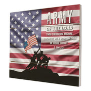 Wooden American Flag Patriotic Veteran Wall Sign Gift - Army