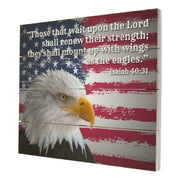 Wooden American Flag Patriotic Veteran Wall Sign Gift - Those That Wait
