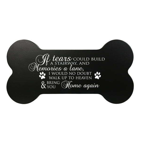 Memorial Small Dog Bone Cremation Urn Keepsake Box - If Tears