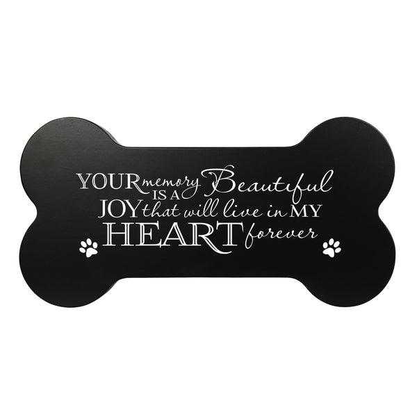 Memorial Small Dog Bone Cremation Urn Keepsake Box - Your Memory