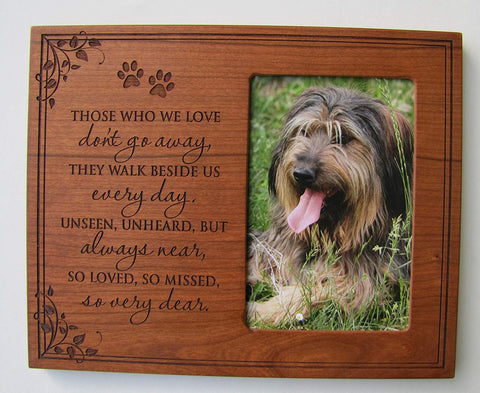 Pet Memorial Frame Sympathy Hold 4x6 Photo Picture