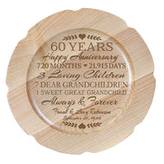 Personalized 60th Anniversary Decorative Plate with Names and Date