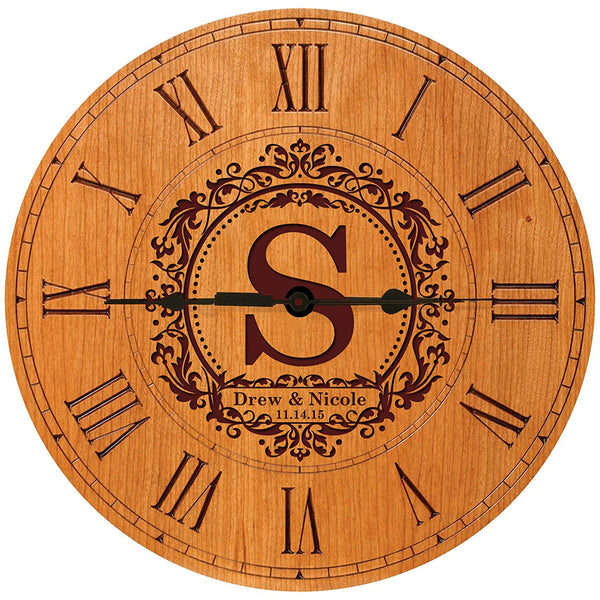 Personalized Decorative Modern Wall Clocks Housewarming Anniversary Gifts for Parents