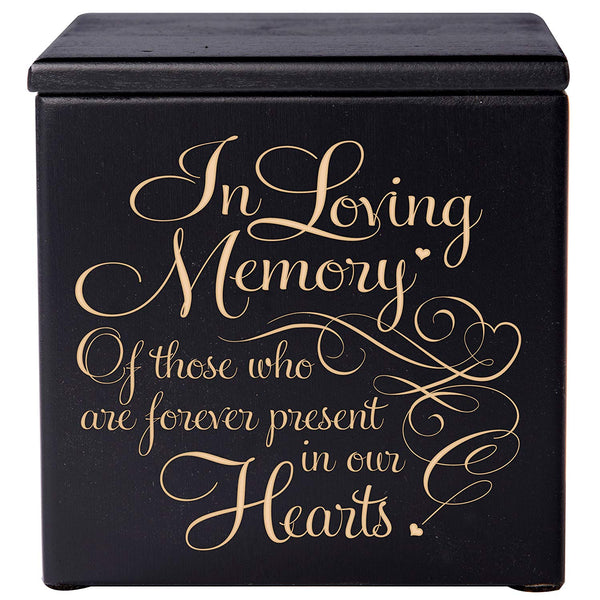 Cremation Urns for Humans- Funeral Urn Keepsake box for Pets - Memorial Gift for home or Columbarium In Loving Memory of those who are forever present in our hearts LifeSong Milestones