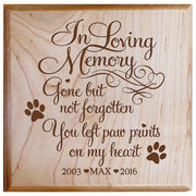 Maple urn pet ashes cremation sympathy memorial animal personalized