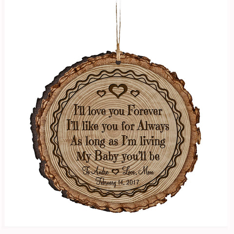 Personalized Valentine's Day Ornaments I'll Love You Forever