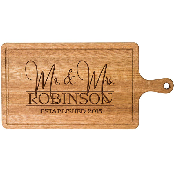 Personalized Cherry Cutting Board - Mr and Mrs