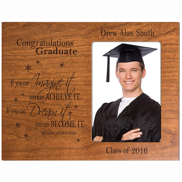 Personalized Graduation Picture gift for graduate ideas for men and women custom photo frame If you can IMAGINE it you can ACHIEVE IT