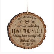 Personalized Valentine's Day Ornaments Loved You Yesterday