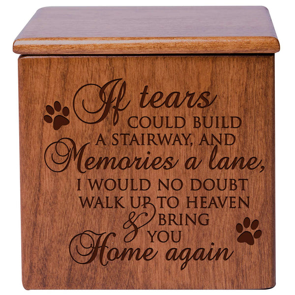 Cremation Urn Memorial Keepsake Box - If Tears Could Build A Stairway Verse