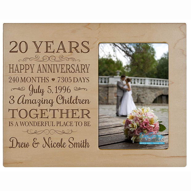 Personalized 20th Year Anniversary Photo Frame - Counting Our Blessings