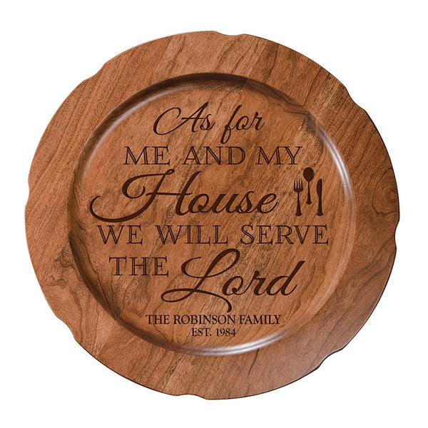 Personalized As For Me and My House Wedding Anniversary Plate