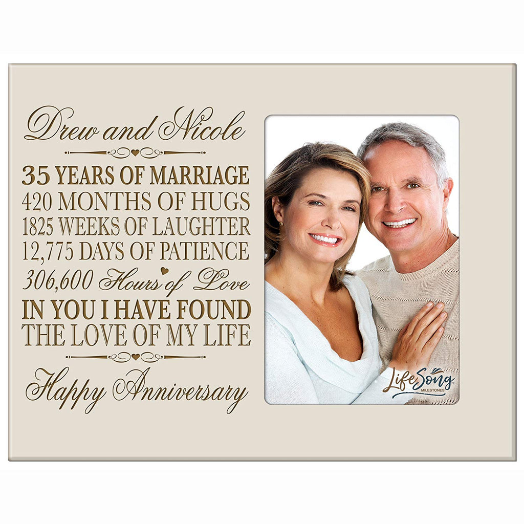 Personalized 35th Year Wedding Anniversary Gift for Couple 35th ...