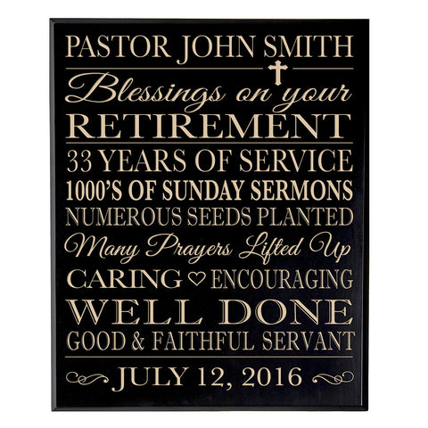 Personalized Retirement Gift Plaque For Men And Women - Religious