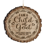 Personalized Wooden Ornament Gifts - Baptism And Christening I Am A Child Of God