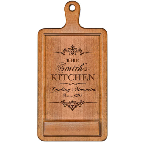 Personalized Cherry iPad Cook Book Holder - Cooking Memories