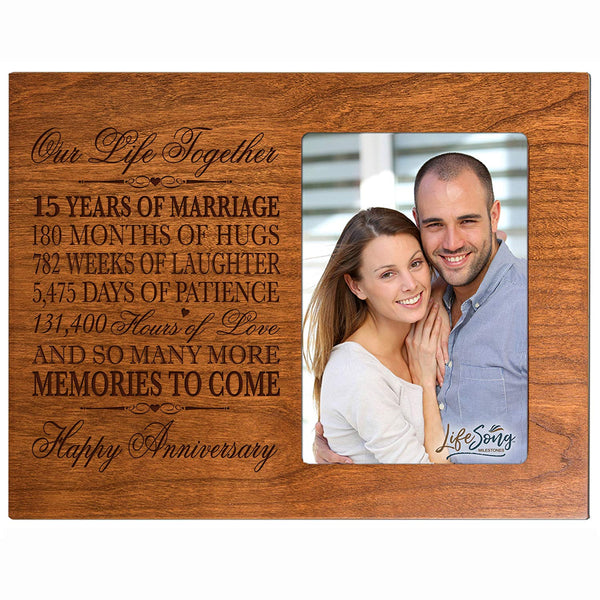 Fifteen Year Anniversary Photo Frame