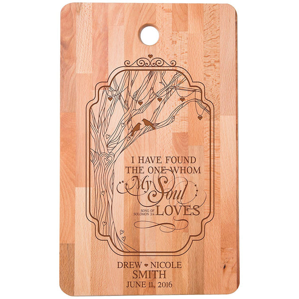 Bamboo Cutting Board - Personalized I Have Found the One Verse