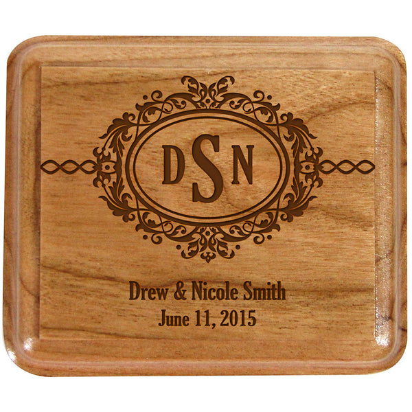 Personalized Double Wedding Ring Box