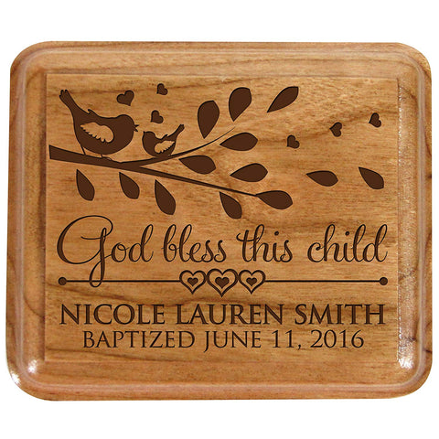 Personalized Baptism Keepsake Box God Bless this Child 1st Holy Communion Gift Custom Sacraments Gift You are fearfully and Wonderfully made. By LifeSong Milestones