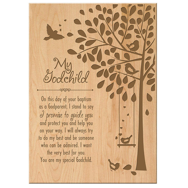 Godchild 1st Holy Communion Wall Plaque Gift