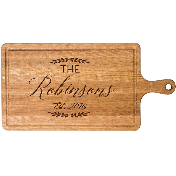 Personalized Cherry Cutting board with Family Last Name Wedding Gift ideas for Him Her Couple Cheese Chopping Board established signs with dates by LifeSong Milestones
