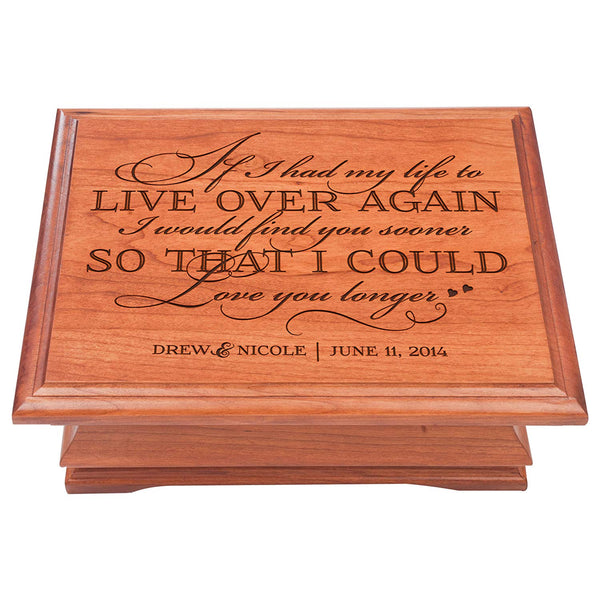 Personalized wedding Anniversary Gift for Couple Jewelry organizer box Her him, storage organizer