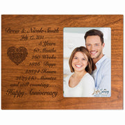 Personalized 5th Anniversary Photo Frame - Happy Anniversary Cherry