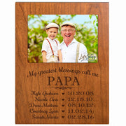 Personalized Gift for Papa Picture Frame - Papa Cherry
