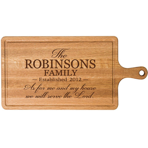 Personalized Cherry Cutting Board - As For Me And My House
