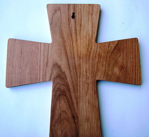 As for Me and My House Cherry Wood Wall Cross Housewarming Gift By LifeSong Milestones #61556