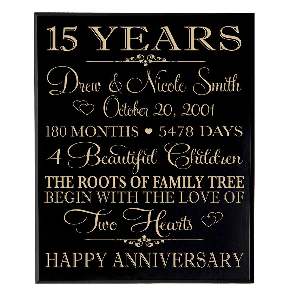 Personalized 15 year Anniversary Gift for Couple,15th Wedding Gift ...