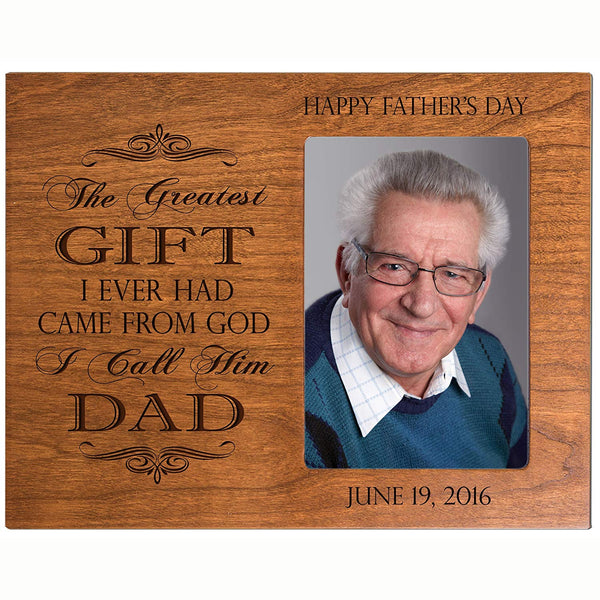 Personalized Happy Father's day picture frame gift