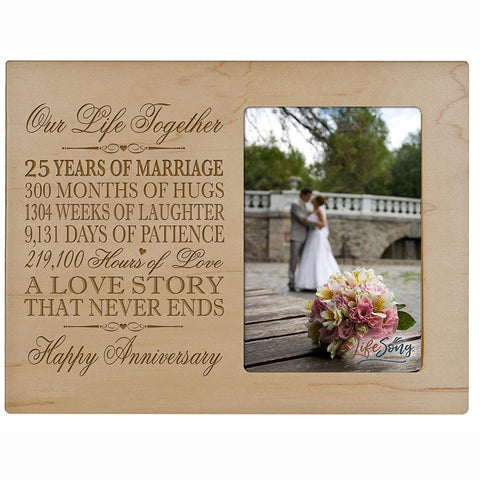 25th Anniversary Photo Frame - Our Life Together
